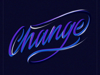 Change deep bright vibrant illustration lettering 90s 80s neon flow color combo colorful brush light artstudio fresco procreate adobe typography type change