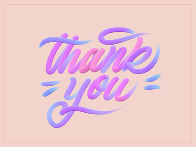Thank You handlettering new year cheer feminine handdrawn script typography type lettering custom artstudio pro art paint brush grateful card thanksgiving thank you