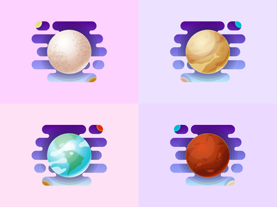 Planets #01 100daysofvector 100daysofillustration vectors space planet illustration vector gradient design art