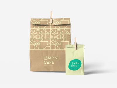 Lemon Cafe Mockup lemon branding design typography cafe design art branding