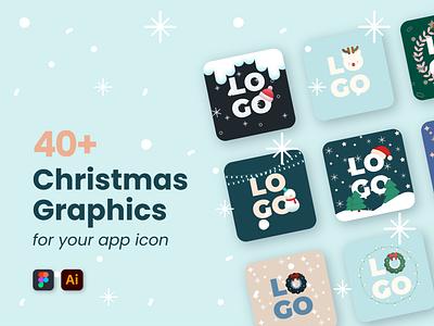40+ Christmas Graphics app icon christmas vector illustration design art