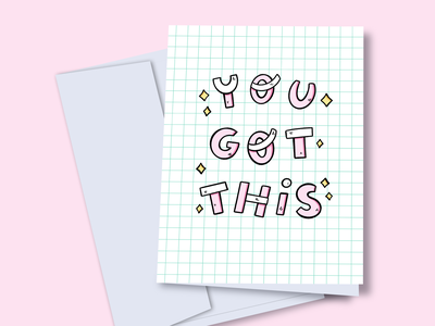 You got this cristina quero pink lettering you got this illustrator cartoon ilustración art cute illustration art illustration graphic design greeting card