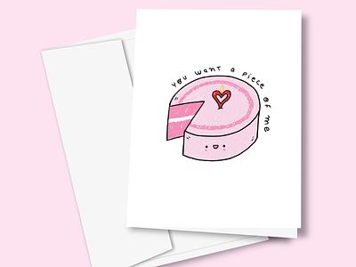 You want a piece of me greeting card design ilustracion love illustrator cartoon cute ilustración graphic design illustration art illustration