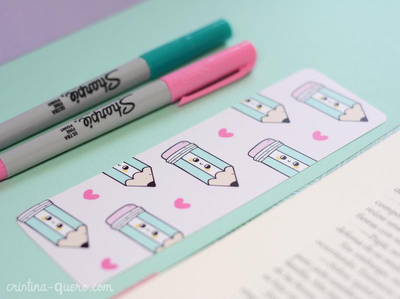 Bookmarks - Pencil Pattern character art illustrator cartoon cute ilustración graphic design illustration art illustration bookmark book bookmarks