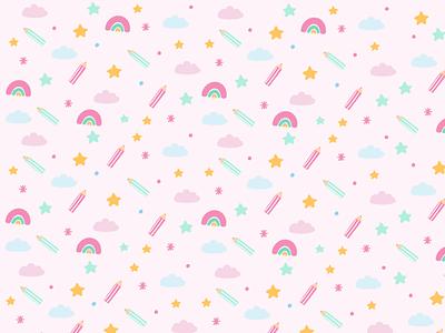 Fun Pattern love branding colourful illustrator cartoon cute ilustración graphic design illustration art illustration seamless pattern