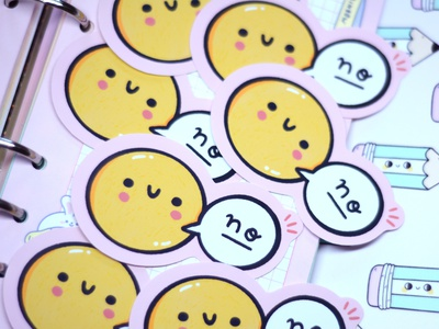 Smile and Say No design vector character art stickers sticker cartoon cute ilustración kawaii graphic design illustration art illustration