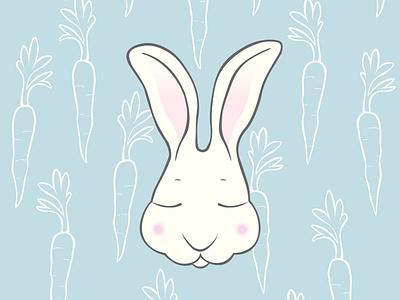Carrot Dreams vector vector artwork character cartoon character cartoon wallpaper rabbit bunny ilustración ilustracion illustrator graphic design illustration art illustration