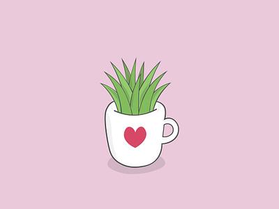 A cup of green? branding logo creative market coffee drawing design colourful love cute art vector artwork vector ilustracion illustrator graphic design cartoon ilustración illustration art illustration