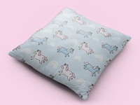 Unicorns Pattern - Pillow