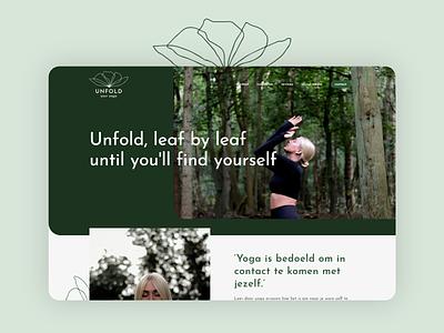 Unfold Your Yoga website webdesign website nature yoga yoga studio
