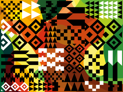Ferragosto Festival patterns blackandwhite ghana kente african pattern abstract illustration