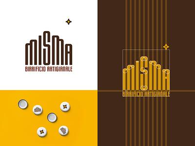 🍺 MISMA logo concept stretching stretched type logotype logodesign logo grid logo brewery logo grid geometry custom lettering custom font craft brewery beer craft beer brewery branding concept branding