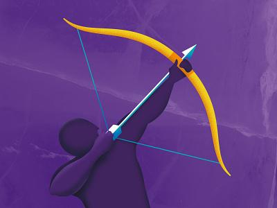 ♐︎ Sagittarius -  12 Signs x 12 Beers belgian beer beer bottle gold purple beer labels zodiac signs bow archery archer sagittarius