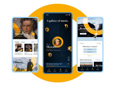 🎶 Overture - Discover, listen and learn classical music classical music music mobileapp ux uiuxdesign uiux interface ui mobile ui mobile app ux ui design ui design app design app ui