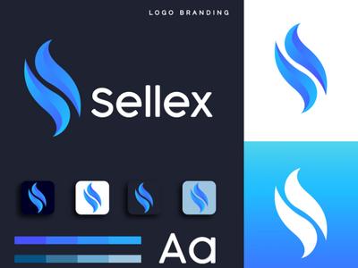ALPHABET 'S' letter  Sellex logo custom branding design brand identity design logo design business logo logo graphic design logo graphic  design