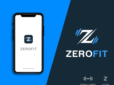 (ZEROFIT) Modern logo design alphabet logo ui business logo graphic design logo logo design branding brand identity design logo graphic  design