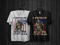 american solder t shirt design