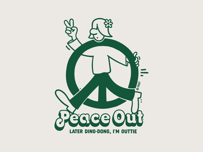 Peace Out t-shirt design t-shirt illustration sweatshirt apparel t-shirt vector branding logo design character illustration
