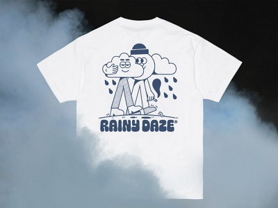 Rainy Daze apparel graphic design t-shirt cannabis 420 branding character linework 2d illustration