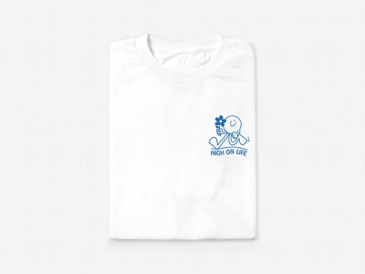 High On Life graphic design apparel character logo illustration branding