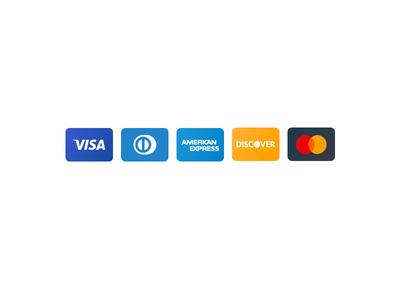 vector credit card icons by arthur chayka dribbble rh dribbble com credit card logos vector free download discover credit card logo vector