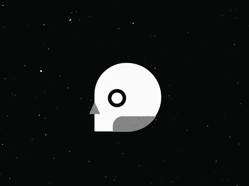 Late night tales minimal icon logo skull texture shape illustration
