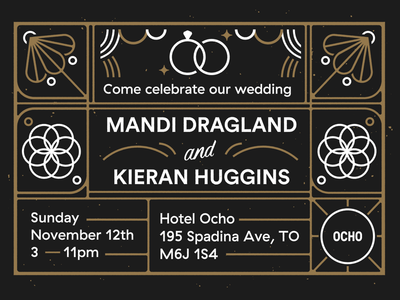 K&M wedding invite