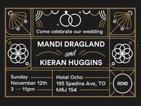 K&M wedding invite