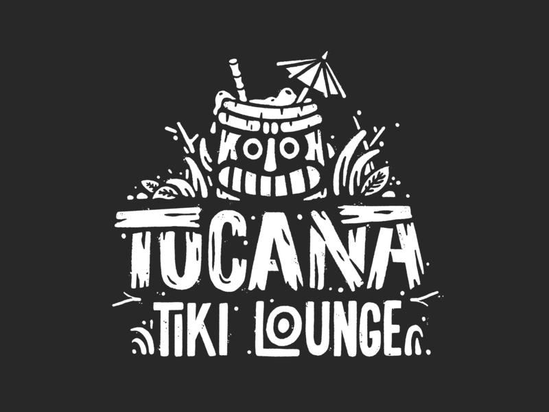 Tucana Tiki Lounge hand lettering branding typography t-shirt print tshirt tucana lettering logo illustration