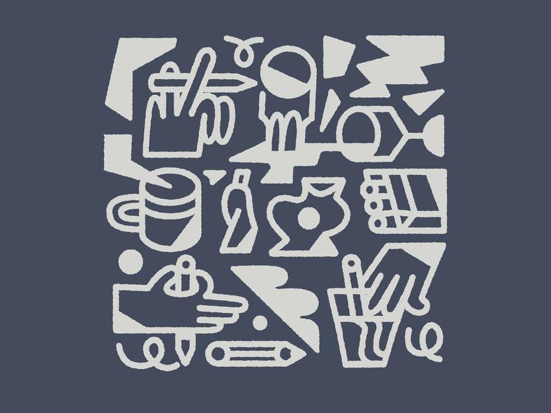 Drink n draw doodle vector branding design linework illustration