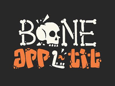 Bone 🦴Appetit lettering skull vector typography branding hand lettering 2d illustration illustrator