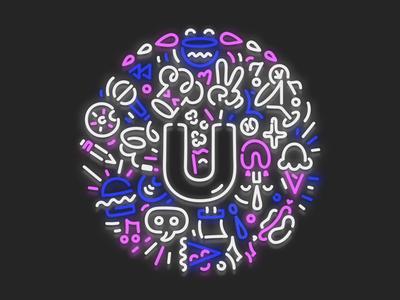 Universe neon