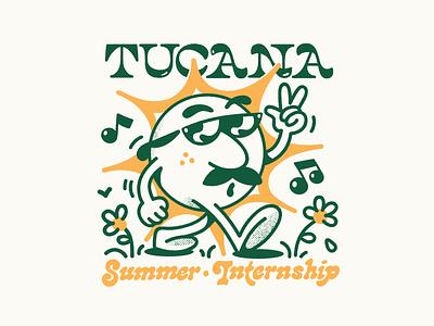 Tucana Summer Internship logo brand lettering branding vector typography 2d character linework illustration