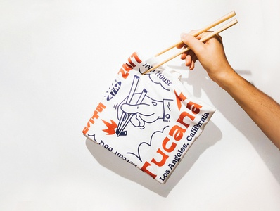 Tucana BBQ lettering typography tshirt branding brand linework 2d illustration