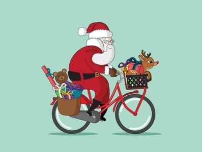 Hear them bike bells jingling bike santa christmas hike one