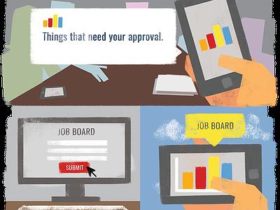 Mobile Dashboard App - Blog Illustrations illustration