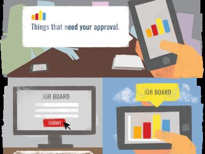Mobile Dashboard App - Blog Illustrations