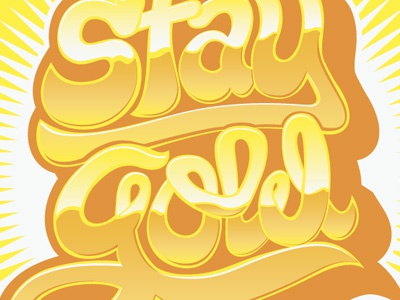 Stay Gold T-Shirt Design