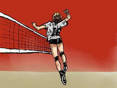 Jump. adobe sketch kylesbrushes volleyball ipad personal