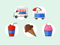 Ice Cream Shop Icons