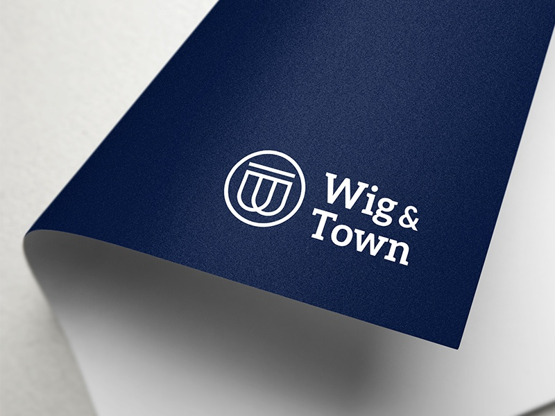 Wig and Town branding law legal logo