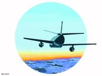 Airplane Sunset 2019 01
