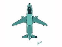 Airplane Underneath Vector 01