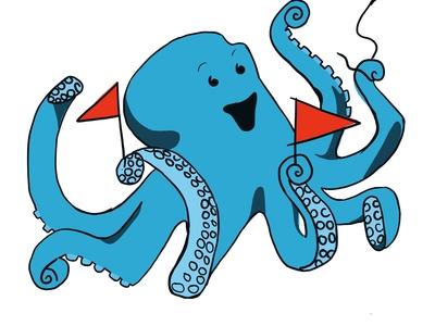 Happy Octopus Child's Bday Invite
