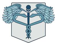 Caduceus Symbol Badge