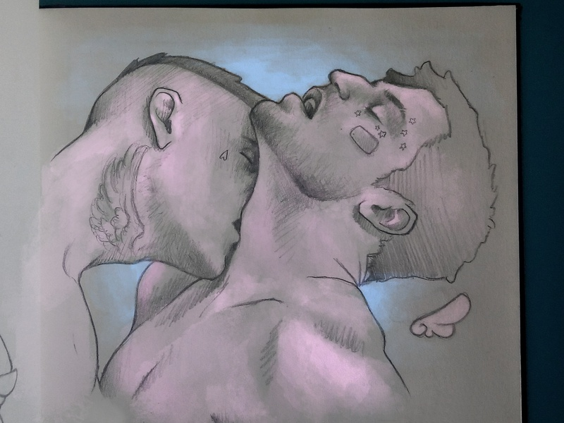 kiss lighting digital painting sketchbook lgbtq lgbt sketch