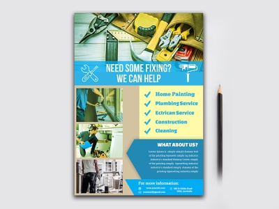 Home Repair Flyer clean real estate flyer business leaflet template business flyer corporate flyer sample leaflet design templates flyer design ideas flyers design flyers templates flyer designer corporate flyer designer corporate branding design illustration flyer a4