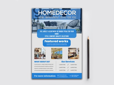 Home Decor Flyer,Flyer Design,Corporate Business Flyer home flyer home decoration a5 flyer real estate flyer business leaflet template business flyer corporate flyer sample leaflet design templates flyer design ideas flyers design flyers templates flyer designer corporate flyer designer corporate flyer branding design illustration