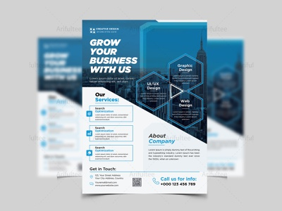Corporate Business Flyer Design with Corporate Look 2020 vector illustration corporate flyer sample leaflet design templates flyer design ideas business leaflet template business flyer branding real estate flyer corporate flyer