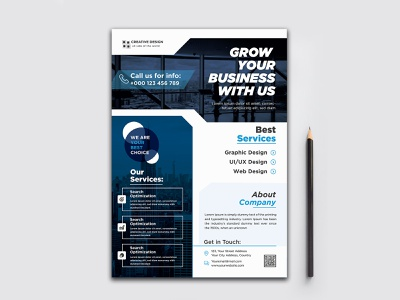New Modern Corporate Business Flyer Template Geometric shape Ful ads design illustration leaflet design templates flyer design ideas real estate flyer business leaflet template business flyer branding corporate flyer